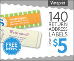 Vistaprint: 140 Labels For $5 With Free Shipping